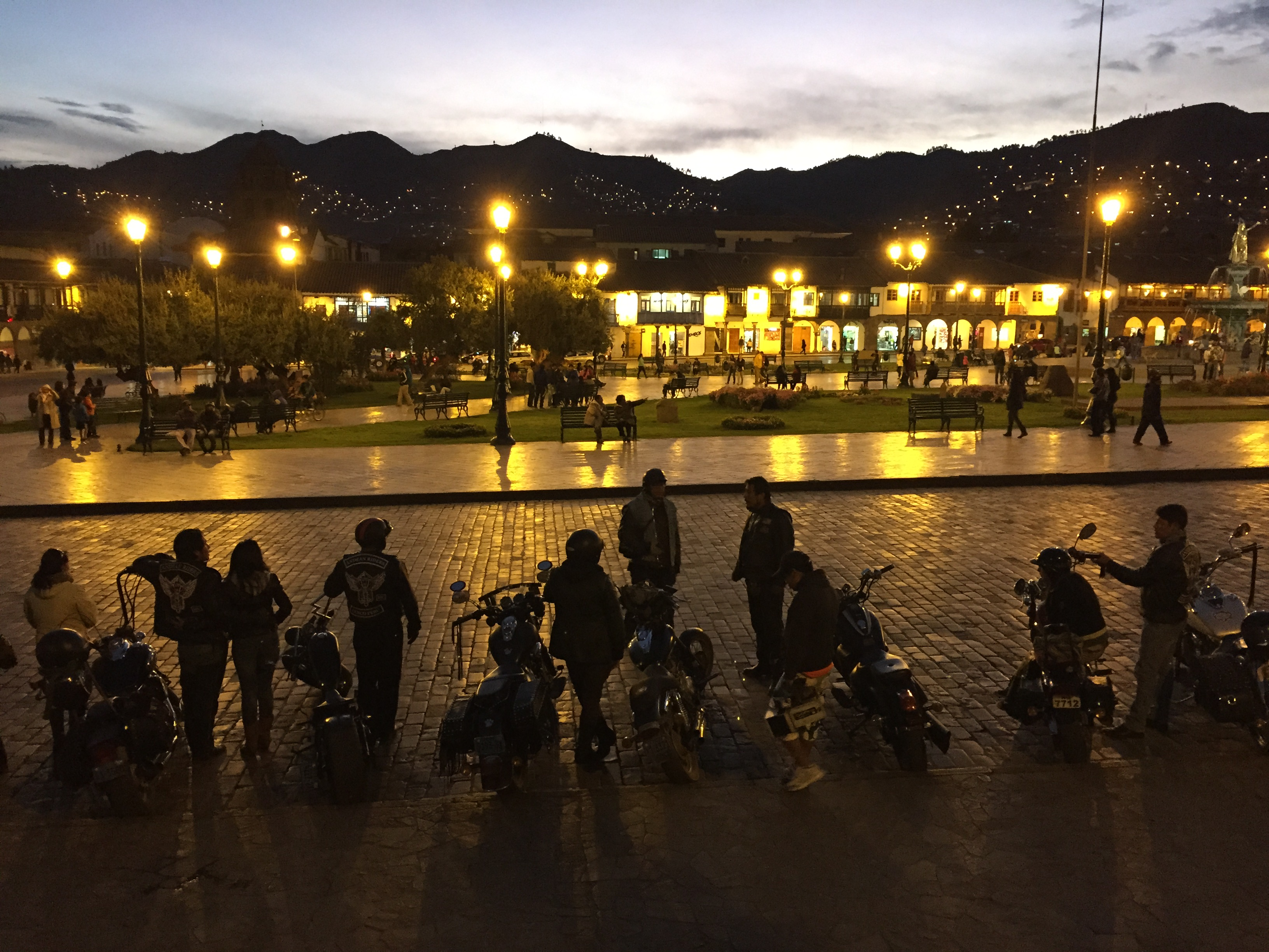 Motorcycle Gang in Cusco, Peru