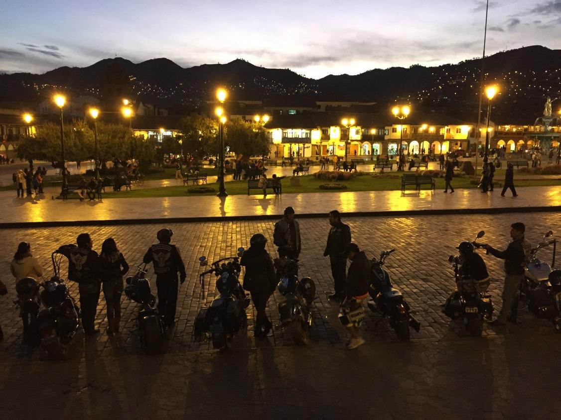Motorcycle Gang in Cusco, Peru